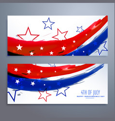 american independence day banners set vector image