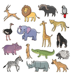 animals africa vector image