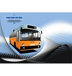 bus background vector image vector image
