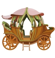 Cartoon carriage Princess on white background vector image vector image