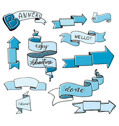 hand drawn sketch set on chalk of planning vector image