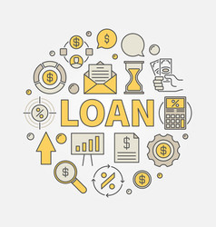 loan round colorful vector image