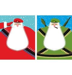 Santa claus christmas defender military vector