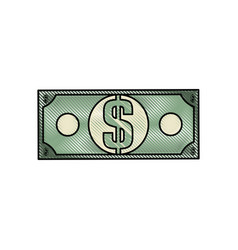 cash money bill vector image vector image