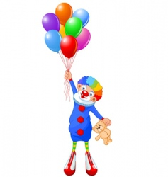 clown and balloons vector image