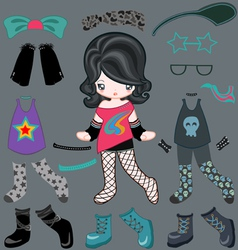 Dress up rock style vector image vector image