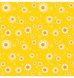 Retro seamles yellow background vector image vector image