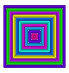 Square multicolored button vector image vector image