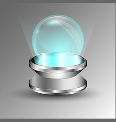transparent sphere on plate vector image