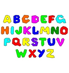 colorfull alphabet vector image vector image