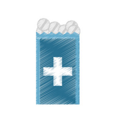 drawing pack medicine pill icon vector image