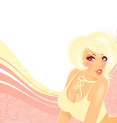 girl elegance vector image vector image