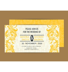 invitation save the date vector image