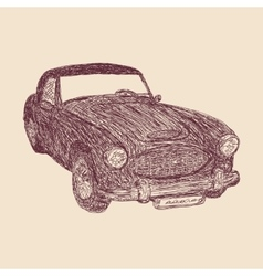 Retro car sketch vector image vector image