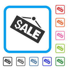sale signboard framed icon vector image vector image