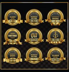 vintage retro labels symbols set vector image vector image
