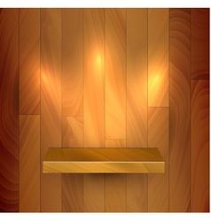 wooden empty realistic bookshelf vector image vector image