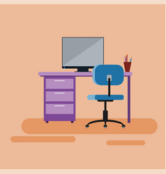 workspace for specialist bank consultant manager vector image vector image