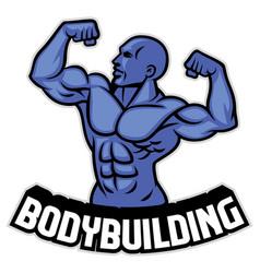 bodybuilder pose vector image vector image