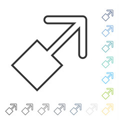 Pull right up icon vector