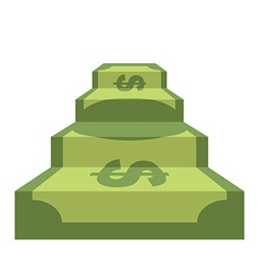 Steps from dollar Track of money Staircase in form vector image