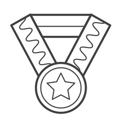 Thin line medal icon vector