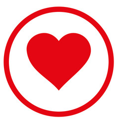 valentine heart rounded icon vector image vector image