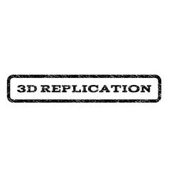 3d replication watermark stamp vector