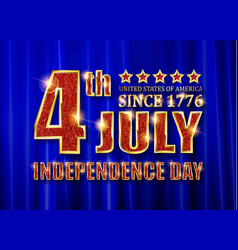 4th of july independence day banner vector