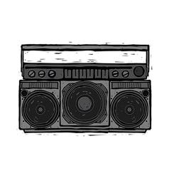 A cassette player vector