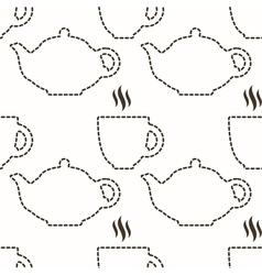 Abstract kitchen seamless pattern vector