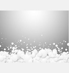 abstract white bubbles background vector image