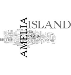 amelia island resorts text word cloud concept vector image