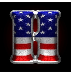 American metal figure h vector