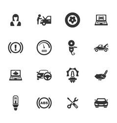 Auto icons set vector
