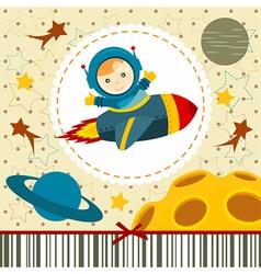 Baby boy astronaut vector