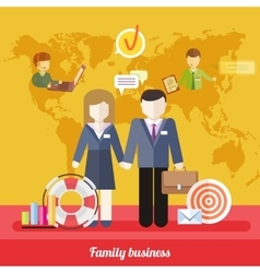 Balance Between Business Work and Family Life vector