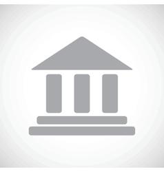 Bank black icon vector image