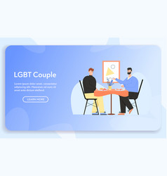 banner lgbt couple concept vector image