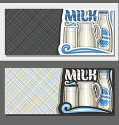 banners for organic milk vector image