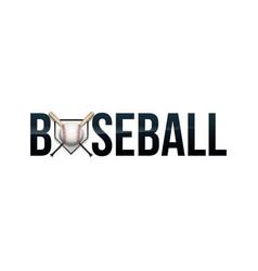 Baseball word art vector