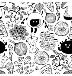 Black and white wallpaper for coloring vector