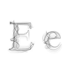 Black smoke font letter e vector
