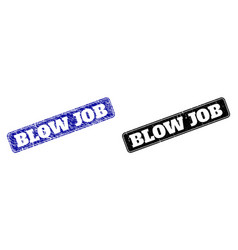 Blow job black and blue rounded rectangular vector