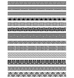 Border decoration elements set vector image vector image
