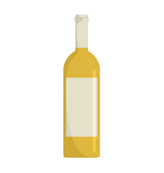 bottle with alcoholic drinks isolated on white vector image