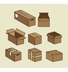 Boxes carton packing delivery service vector