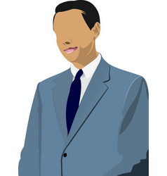 businessman stands and speaking with someone over vector image