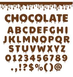 Chocolate latin alphabet vector