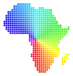 Colored pixel africa map vector